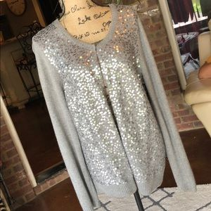 Ann Taylor Sequin Sweater😍